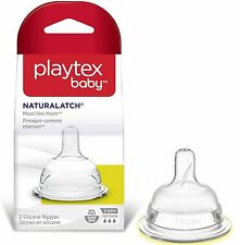 Playtex Baby NaturaLatch Silicone Nipple, Fast Flow 2 ea (Pack of 3)