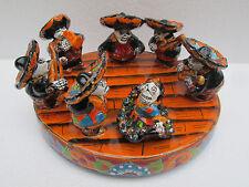 MARIACHI CATRINA mexican music band  folk art day of the dead talavera figure
