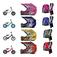 Sprocket Junior Kids BMX Strider Style Bike Helmet Jersey Pant Glove Starter Kit