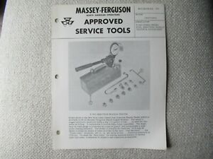 Massey Ferguson approved tractor tools fuel nozzle tester specification brochure