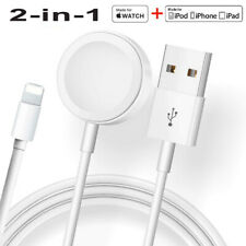 Magnetic Charger 2in1 USB Cable For Apple Watch iWatch 5/4/3/2/1 iPhone 11/XR/XS