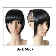 Real Natural Hair Extension Clip In Front Hair Bangs Fringe human made Hair hg29