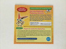 Nintendo DS Video Game Pokemon Victini - Paper Insert Only -