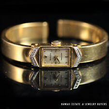 eVINTAGE 1950'S ROLEX 18K GOLD DIAMOND CUFF WATCH LADY'S WATCH MANUAL WINDING