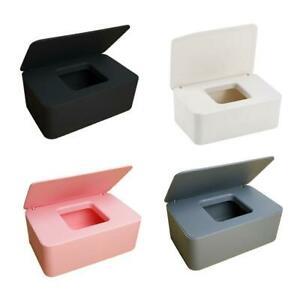 Wet Wipes Dispenser Holder Tissue Storage Box Case Home Black With Lid .