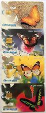 Malaysia Used Phone Card : 4 pcs Butterflies