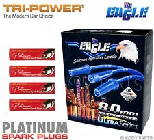 IGNITION LEADS & PLATINUM PLUGS - for Daewoo Cielo 1.5L GL (G15MF) TPH