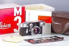 LEITZ LEICA M3 DS + 1.4/35mm STEEL RIM SUMMILUX 35mm REVISADA IN BOX 1ST VERSION