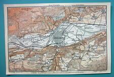 1905 MAP Baedeker - AUSTRIA Innsbruck & Environs