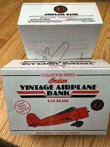 1932 Lockheed Vega Vintage Indian Airplane Diecast Scale 1:32 Coin Bank #35010