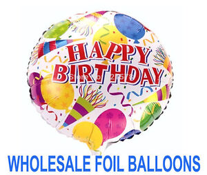 "Set of X3 / 5 / 10/20 Happy birthday 18"" Foil Balloons Wholesale Job lot party"