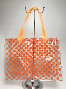 Women Clear PVC Waterproof Swimming School Summer Beach Shopper Tote Holiday Bag