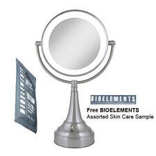 Zadro LEDSV410 LED Satin Nickel Vanity Mirror w/ Bioelements Skin Care Sample