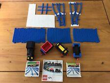 LEGO VINTAGE TRAIN SET-treni, vagoni, binari Blu-Set 171