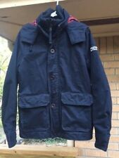 Men's Abercrombie & Fitch Winter Jacket Coat Heavy Warm Navy Blue NICE Size S