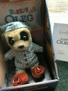 Sleepy-Oleg-Meerkat-Toy-With-Certificate- Brand New In Box-Limited Edition