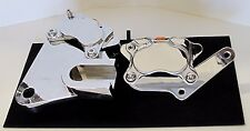 DYNA 91-99 FRONT & REAR 4-PISTON CHROME BRAKE CALIPER KIT & BRACKETS HARLEY