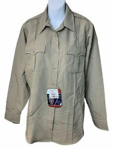 Womens Flying Cross Command Long Sleeve Tan Uniform Shirt 42 Long New