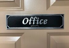 Office Polished Aluminum Door or Wall Sign