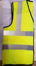 Horse riding waistcoat extra large hi vis yellow with reflective silver stripes