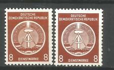 DDR  postfrisch DIENSTMARKE   D3 XI + XII   tiefst geprüft  Schönherr