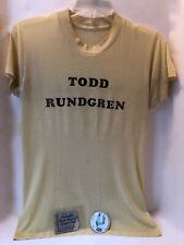 VINTAGE 1970s~TODD RUNDGREN~CENTRAL PARK, NY~T-SHIRT CONCERT TICKET STUB~BUTTON
