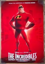 THE INCREDIBLES MOVIE POSTER 2 Sided ORIGINAL Advance INTL 27x40 DISNEY