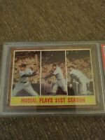1962 Topps Stan Musial 21st Season #317 - PSA 4 - St. Louis Cardinals