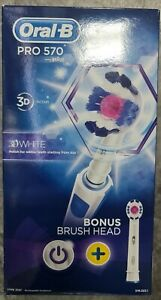 Oral B Pro 570 Electric Toothbrush 3D White with Refill Head
