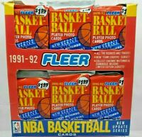 1991-92 FLEER BASKETBALL JUMBO 18 PACKS X 48 CARDS PER SEALED UPDATE SERIES BOX