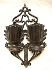 Early Match Safe 1867 Pat Cast Iron Holder Double Pocket Keeper Basket Kitchen