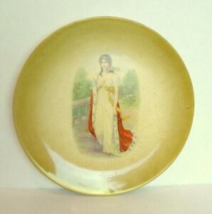 "COLONIAL Company Royal Lady plate crazed antique decor 10 1/4"" diameter"