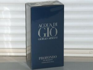 ACQUA DI GIO PROFONDO Giorgio Armani Men's eau de Parfum EDP, 6.7 oz, 200 ml NEW