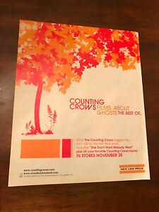 2003 VINTAGE 10X12 ALBUM PROMO PRINT Ad FOR COUNTING CROWS FILMS ABOUT GHOSTS