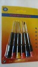 6x SMALL SCREWS SCREWDRIVER SET PRECISION TOOL PHILLIP GLASSES JEWELLERY WATCHES