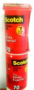 Scotch-Brite Lint Roller Refill Tears Cleanly Sticky experts  70 sheets x 2 pk