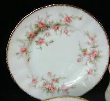 "Paragon Victoriana Rose 6 1/8"" Bread Plate - Gold Trim"