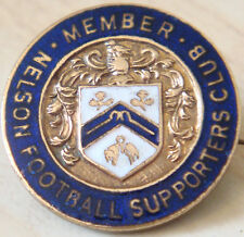 NELSON Rare vintage MEMBERS SUPPORTERS CLUB Badge Maker WO LEWIS B'ham 26mm Dia