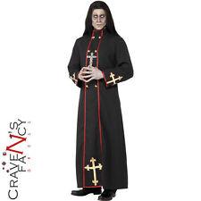 Ministro della Morte Adulto Costume da Uomo Prete Zombie Costume Halloween Completo