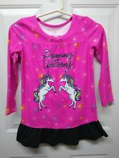 So Size 5/6 Girls Pajamas Shirt Unicorns Long Sleeve