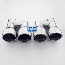"2.25"" inlet quad resonated exhaust tips dual twin round 3.5"" outlet"
