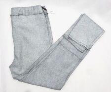 Crackle Leather Leggings White Black Pants Women's Small