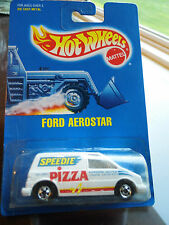 Vintage 1990 Hotwheels - Ford Aerostar - Speedie Pizza - NIP