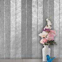 Modern Wallpaper Stripe Silver Metallic Striped Textured wall coverings Rolls 3D
