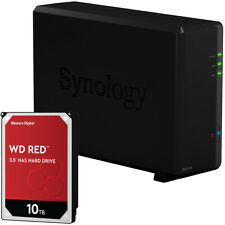 Synology DS118 1-BAY DiskStation Assembled with a 10TB Western Digital NAS Drive