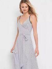 NWOT Gap Stripe cami wrap dress, White Stripe SIZE MT M T         #788628 v713