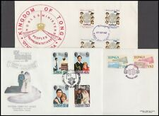 TONGA 1980's FDC's (x6) ALL DIFFERENT (ID:183/D40510)