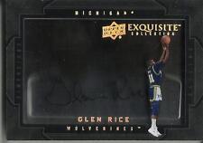 Glen Rice 11/12 Exquisite Collection Dimensions Autograph
