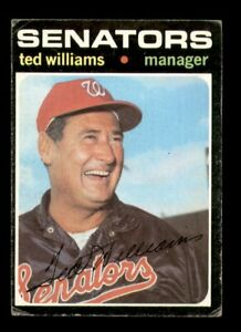 1971 Topps Set Break # 380 Ted Williams GD *OBGcards*