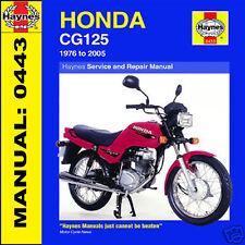 HONDA CG125 1976-2007 haynes manuale 0433 NUOVO